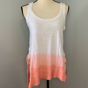 Pink & white ombré Heather tank top